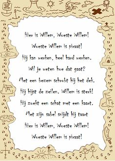 Versje woeste Willem Pirate Party, Education, School, Onderwijs, Learning