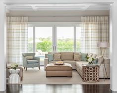 Hamptons Summer Home transitional living room