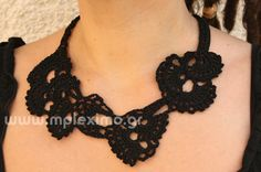 freestyle crocheted necklaces