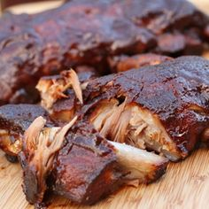 Some of the best ribs hubby has ever tasted... and they came from the slow cooker!