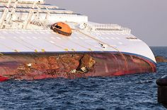 Costa Concordia damage area.