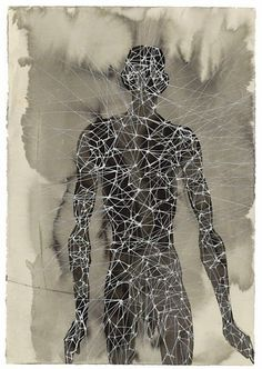 Antony Gormley - Another Singularity, - Carbon and casein on paper Antony Gormley Sculptures, Sir Anthony, Life Drawing, Drawing Stuff, Figure Drawing, Drawing Ideas, 3d Studio, Gcse Art, Abstract Sculpture