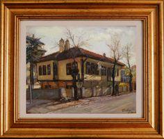Dragoljub Stankovic Civi - House of Bora Dimitrijevic - Leskovac - oil on canvas - 50x40 cm - 2012.  Dragoljub Stankovic Civi - Kuca Bore Dimitrijevica Piksle - Leskovac - ulje na platnu - 50x40 cm - 2012.