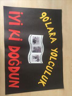 90lar konseptli bir doğum günü için hazırlanan afiş :)