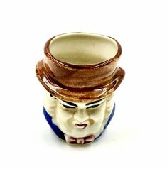Toby Jug Miniature Small character man men Pot Collectable occupied japan made Man Images, Man Men, Isle Of Wight, My Ebay, Miniatures, Japan, Ornaments, Shop, Character