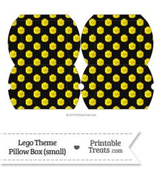 Small Black Lego Theme Pillow Box from PrintableTreats.com
