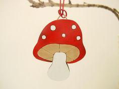 Christmas Ornament  mushroom kids holiday decor kids by Shellyka
