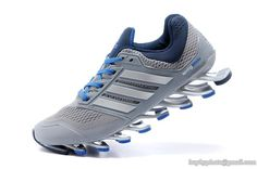 Men's Adidas Springblade Drive Running Shoes Gray Sapphire Blue