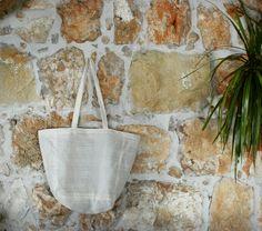 Diy linen tote bag