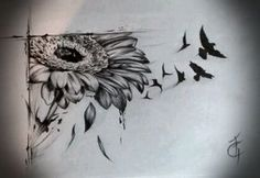 gerbera ink...love the idea...though I think I'd exchange the birds for butterflies/dragonflies/something a little more delicate