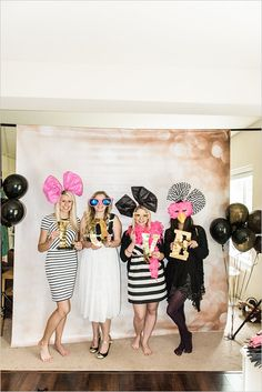 Have a fun filled photo booth at your bridal shower. Let those beautiful memories be captured in the most quirky and fun way.