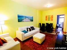 This canary yellow furnished #NYC apartment rental makes winter blues a thing of the past: http://www.nyhabitat.com/new-york-apartment/furnished/16421
