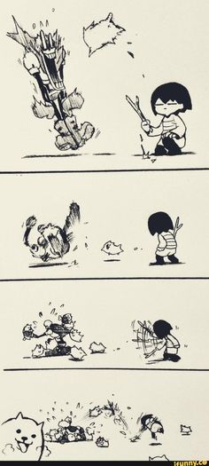 Frisk: Come here Papyrus: GO AWAY!!!! Frisk: Wait! Come back TT^TT Me: *dies of laughter*