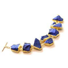 Petra Class - Incredible lapis lazuli bracelet with 18/22k gold - Gallery Lulo