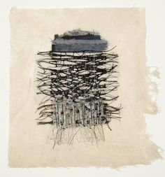 Jennifer Davies, thread and handmade paper