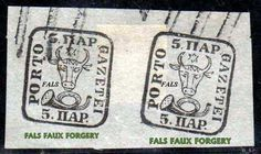 Bull's head 5 par : fake pair (forgery, faux paire )