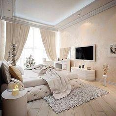 Великолепная спальня в бежевых тонах