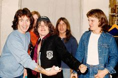 The guys! I bet that they were a riot to hang with. Bon Scott, Rock And Roll Bands, Rock N Roll, Great Bands, Cool Bands, Phil Rudd, Malcolm Young, Ac Dc Rock, Angus Young