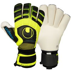 Guanti da portiere Uhlsport Cerberus Absolutgrip, Rollfinger, Gunn Cut. Esclusiva Keepersport