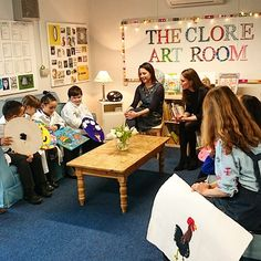The Duchess of Cambridge hears how much the children enjoy the new Clore Art Room at Barlby primary school, London. The Duchess became Patron of @TheartroomUK in 2012