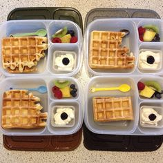 Happy Waffle Day! Waffles packed to lunch with @EasyLunchboxes containers