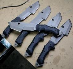 The classic wilderness survival knife with a modern/combat twist.