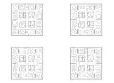 Der Grundriss lässt viele Lernformen zu: Klassische Klassenzimmer oder drei Zimmer als Atelier (oben), das ganze Geschoss als riesige Lernwe...