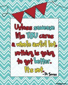 {free} Dr Seuss printable quote