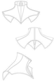 corset dibujo Volante Neck corset - black neck corset sewing pattern by Ralph Pink Fashion Sewing, Diy Fashion, Ideias Fashion, Fashion Goth, Flat Drawings, Flat Sketches, Pattern Cutting, Pattern Making, Corset Sewing Pattern