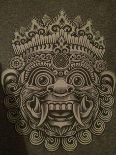 Body Art Tattoos, Sleeve Tattoos, Balinese Tattoo, Tibetan Tattoo, Khmer Tattoo, Native Tattoos, Tiki Art, Indonesian Art, Mask Tattoo