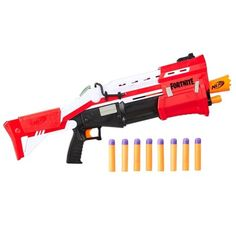 Nerf Fortnite Ts Blaster -- Pump Action Dart Blaster, 8 Official Nerf Mega Fortnite Darts, Dart Storage Stock -- For Youth, Teens, Adults Arma Nerf, Pistola Nerf, Cool Nerf Guns, Nerf Darts, 4 In A Row, Nerf Toys, Tactical Shotgun, Toys R Us Canada, Battle Games