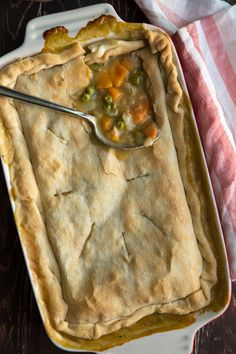Chicken Pot Pie - I'd have to make my own pie dough, but I could actually make this dairy free and soy free!