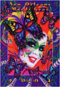 Andrea Mistretta Mardi Gras Poster 2004