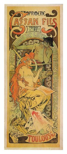 Creator: Alphonse Mucha (Czech graphic designer, 1860-1939) Date: 1896 Materials: color lithograph Measurements: 174.7 cm (height) x 68.4 cm (width) Work type: posters Image Description: poster Image_Filename: 06072004