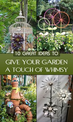 Try these adorable projects to add a bit of light-hearted humor to your garden.