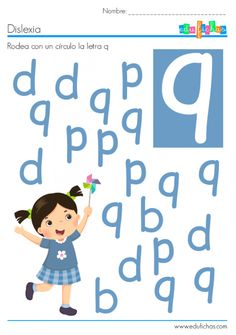 dislexia letra q Kindergarten Learning, Kids Learning Activities, Kindergarten Worksheets, Teaching Kids, Visual Perception Activities, School Counsellor, Fun Worksheets For Kids, Letter A Crafts, Pre Writing
