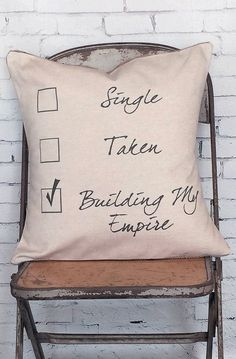 Pillow Cover Single Taken Building My Empire