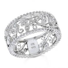 BF1241 - #23278  18 k, white diamond band 0.19 ct. rounds (Please call for pricing)