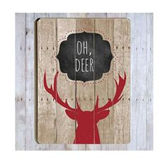 Oh Deer Wood Sign Deer Silhouette Deer Art Deer Pun by CallMeArtsy