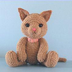 FREE Amigurumi Kitty Cat Crochet Pattern and Tutorial by Sue Pendleton by Little Slim