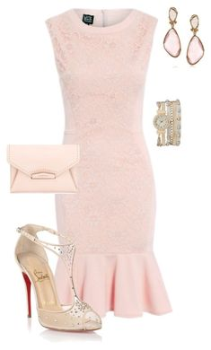 """Untitled #502"" by angela-vitello on Polyvore featuring Christian Louboutin, Givenchy, maurices and Mark Broumand"