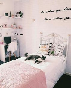 Teen Girl Bedrooms Must try teen room examples for a superb cozy diy teen girl bedrooms pink Room Decor Suggestion 1775136532 posted on 20190122 Bedroom Ideas For Teen Girls Tumblr, Pink Bedroom For Girls, Cute Bedroom Ideas, Teen Girl Bedrooms, Pink Bedroom Design, Girl Bedroom Designs, Master Bedroom Design, Bedroom Decor, My Room