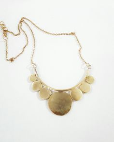 Statement geometric necklace