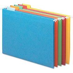 Smead Hanging File Folders, 1/5 Tab, 11 Point - #SaveOnOfficeSupplies #HangingFileFolders