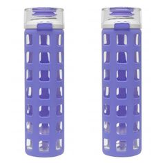 2-Pack BPA-Free 20-Ounce Glass Water Bottle ($27) ❤ liked on Polyvore featuring home, kitchen & dining and purple