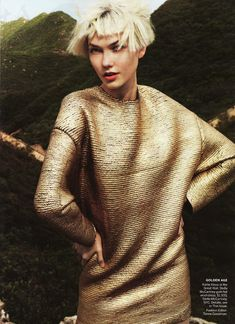 """Karlie Kloss in """"Go East"""" by Mario Testino (US Vogue September 2011)"""