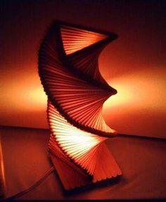 Luminária de palitos