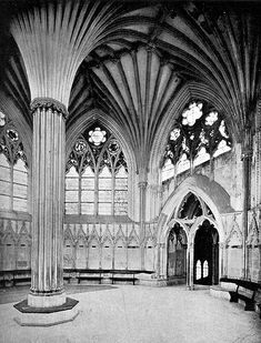 Wells Cathedral Chapter House, Gothic Architecture