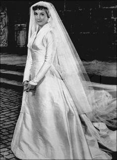 Julie Andrews wedding dress from The Sound of Music. You only get a glimpse of it in the movie. I love the lack of beading and lace.