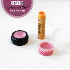What do you do with your chap stick that melts in the car? Turn it into colorful lip gloss.